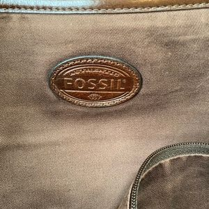 Fossil Bags - Fossil Brown Leather Messenger Laptop Bag
